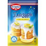 003051 Глазурь Сахарная со вкусом лимона 100г. Dr.Qetker Россия