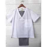 014 Комплект куртка белая +брюки клетка Универсал размер 48