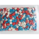 007768744 Посыпка Звезды красные,белые,синие 1уп=50г. Россия Топ-Продукт