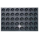SN9093 Противень (алюстил+тефлоновое покрытие) для выпечки 40 кексов Саварин 600х400х20мм / 68-54х15,5мм