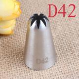 D42 Насадка кондитерская диаметр основания 25 мм высота насадки 41 мм длина декоративного отверстия 14 мм