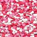 007768230 Посыпки Сердечки красно-бело-розовые мини 1уп=50г. Топ Продукт Россия
